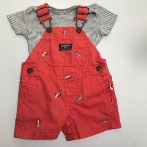 Oshkosh Bgosh Vestbak Girls Bib Shorts 6 Months